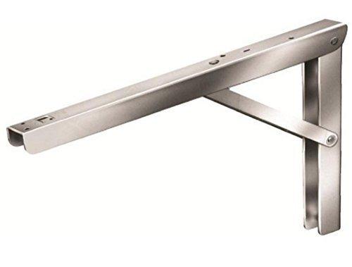 Klappkonsole Vario klappbar/verstellbar, Höhe: 270mm, Tiefe: 400mm, Breite: 36mm, Stahl verzinkt, Tragkraft: 50kg