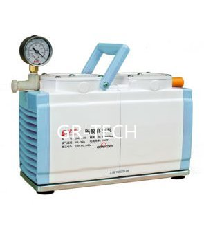 GR-TECH Instrument ® Diaphragm Vacuum Pump Oil Free Dual Head 30 L/min GM-0.50B 110V or 220V