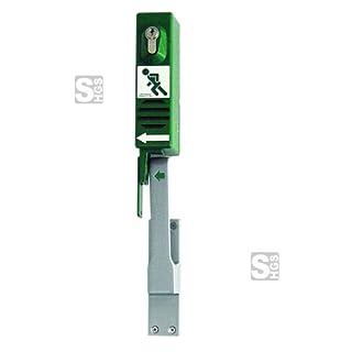Türwächter grün für Paniktreibriegel linksöff m Zylinderschloß,5,20x25x7,20cm