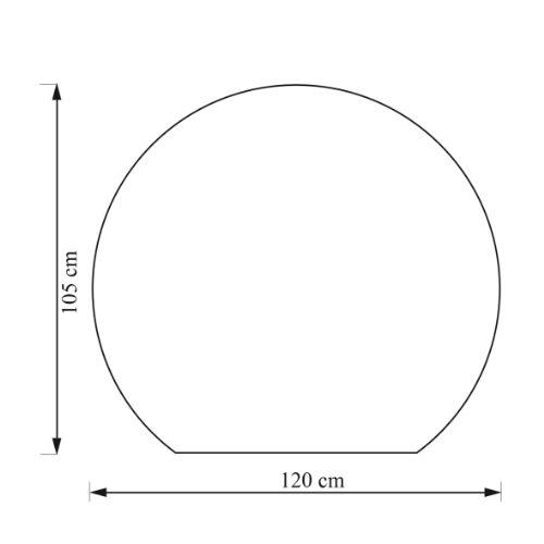 Kamino Flam Glasbodenplatte Kreisabschnitt, runde Platte aus ESG-Hartglas, temperaturwechselbeständige Bodenplatte zum Funkenschutz, Glas mit polierten Kanten, Maße: ca. 120 x 105 x 0,6 cm Test