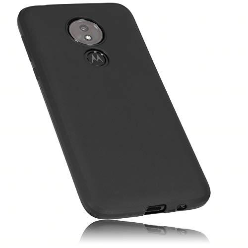 mumbi Schutzhülle Kompatibel mit Motorola Moto G7 Power Hülle, Handyhülle Passgenau, Schwarz