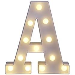 Letra con luz Decorativa Tamaño 22 x 18 x 4,5 cm