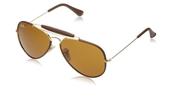 Ray Ban Herren Sonnenbrille Outdoorsman Gestell: Gold