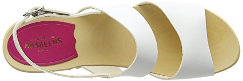 Swedish Hasbeens Helena, Sandales  Bout ouvert femme Blanc (Blanc)