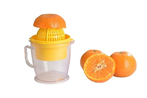 Magikware 2 in 1 Manua Hand Juicer Squeezer for Fruits, Yellow