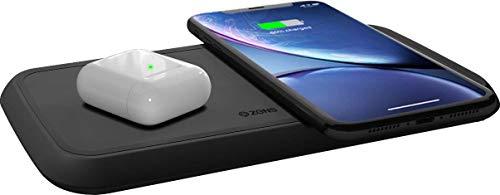 ZENS Qi-zertifiziertes duales kabelloses Schnellade-Pad 30W, Unterstützt Fast Wireless Charging mit bis zu 15 Watt - Funktioniert mit allen Qi-fähigen Geräten (Charger G3 Wireless Lg Dock)