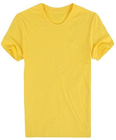 La Vogue t-Shirt Homme Tops Manche Courte Col Rond Uni Été Couleur9 XL
