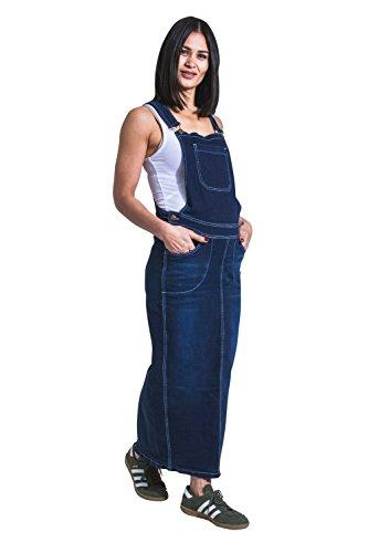 Umstands Latzkleid aus Jeansstoff