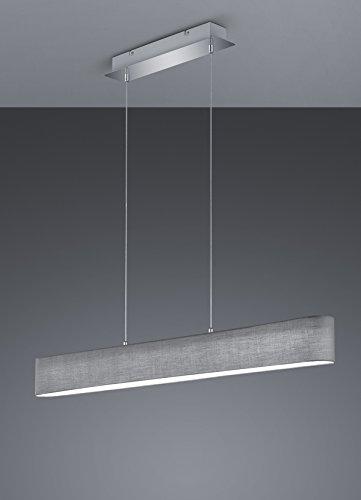 Trio Leuchten LED Pendelleuchte, Nickel, Integriert, 18 W, Grau, 8.5 x 100 x 150 cm - 3