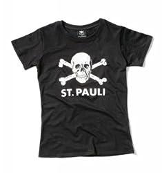 FC St. Pauli Totenkopf Girl-Shirt schwarz XL