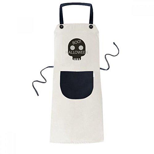beatChong Einfache Schädel Halloween Kochen Küche Beige Adjustable Latzschürze Taschen Frauen Männer Chef-Geschenk