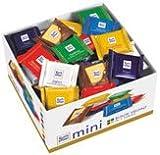 Ritter Sport Mini Bunte Vielfalt, 7 Sorten (Vollmilch, Haselnuss, Joghurt, Marzipan, Nugat, Knusperkeks, Knusperflakes), 84 Stück - 1400gr - 4x