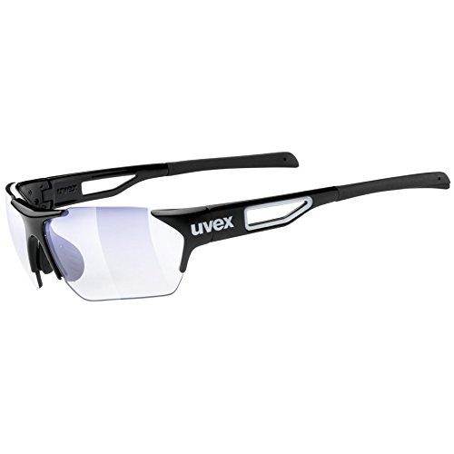 Uvex Erwachsene Sportstyle 202 Small Race VM Sportsonnenbrille, Black/len variomatic litemirror Blue, One size