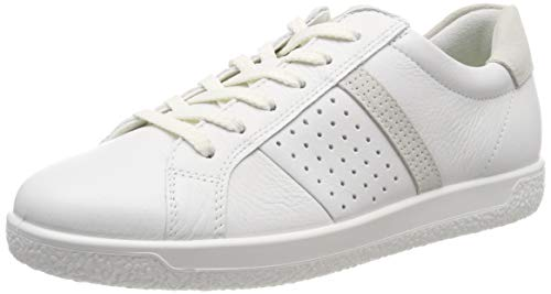 ECCO Damen Soft 1 Ladies Sneaker, Weiß Shadow White 52292, 39 EU -