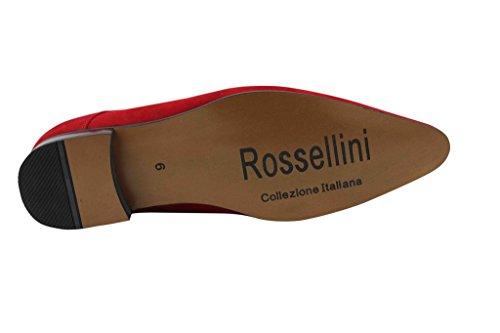 Rossellini , Chaussures de ville à lacets pour homme Rouge