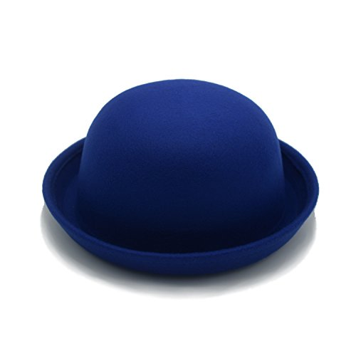 JEEDA JEEDA Vintage Style Frauen Woolen Roll-up Krempe Fedora Bowler Hat