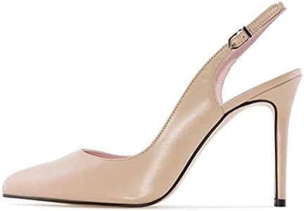 EKS zapatos con talón descubierto mujer, color Rosa, talla 36.5