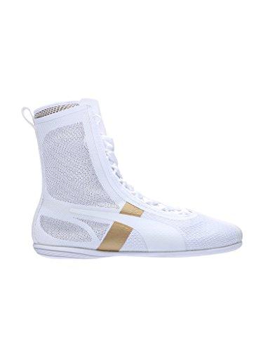 Puma - Eskiva Hi Evo, Sneaker Donna Bianco / oro