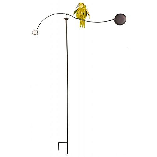 L'Héritier Du Temps Tuteur Tige pour Plantes Motifs Oiseaux ou Mobile de Jardin Rotatif à Planter en Fer Patiné Multicolore 82x82x144cm