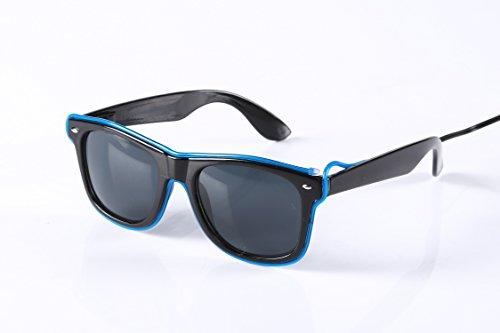[Elektrische EX] glanzende Linie Sonnenbrille blau X9ROyM9B