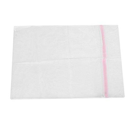 sourcingmap® Reißverschluss weiß Nylon Mesh Wash Medium Socken Pullover BH Net Waschen50x60cm (Mesh-socke-tasche)