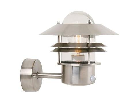 NORDLUX 25031034 Capteur de mouvement lumineux IP44, 60W,E27 Acier inoxydable