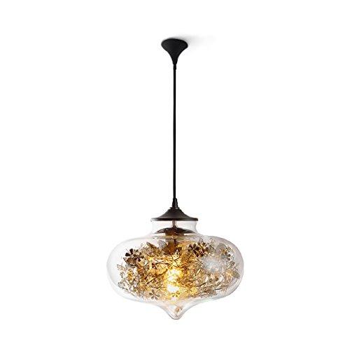 MEGSYL Liebe Glas Kronleuchter, moderne minimalistische Stil Deckenleuchte, kreative Persönlichkeit Wohnzimmer Esszimmer Lampen Leuchte, Spitze geschnitzt Schmuck Kronleuchter - Medallion-deckenventilator