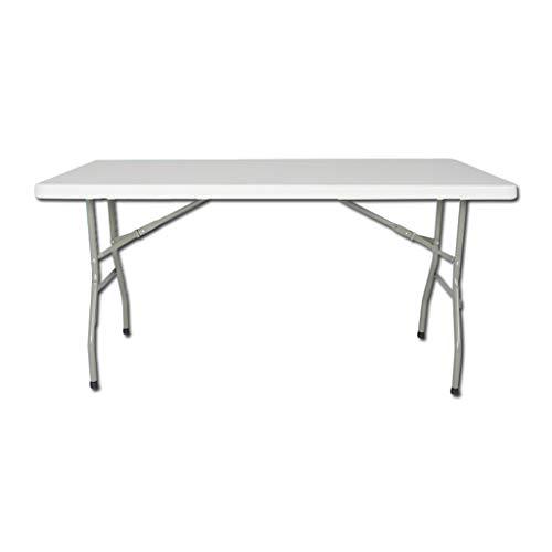 Vimele Table Pliante extérieure Blanche Portable Split Table Pliante en Aluminium Pique-Nique Barbecue Table allongée Table de fête Table Pliante