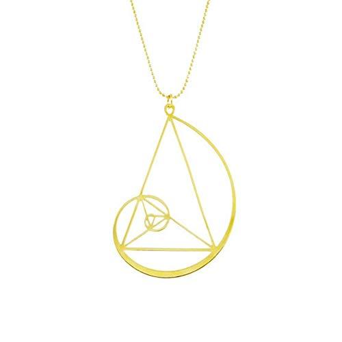 Halskette mit Anhänger Spirale Goldene Fibonacci Anzahl der Gold - Symbol ewiger Bewegung - Geschenk Original Herren Damen Wissenschaftler Alchemist Unisex