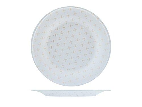 Bormioli Rocco 19322r 6 assiettes verre Ceramic fruits 21 cm, Beige