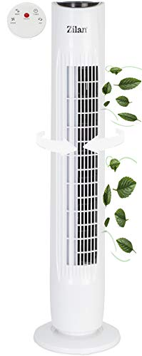 Turmventilator | 3 Stufen | 2 Modi | 7,5h Timer | Fernbedienung | Oszillierend | Tower-Ventilator | Standventilator | Säulenventilator | Luftkühler | Fan