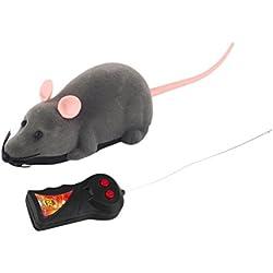 Control electrónico Control remoto rata ratón peluche juguete para gato perro chico (gris)