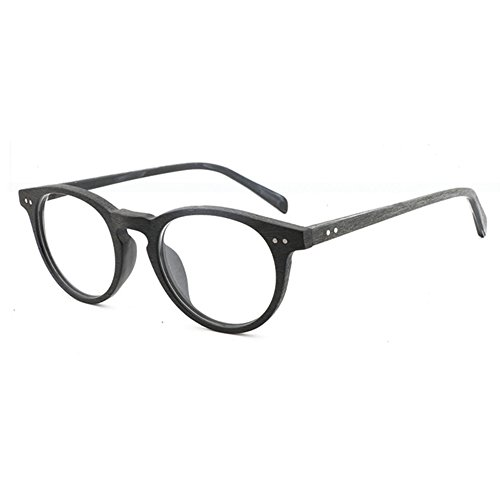 Hibote Männer Frauen Brille - Klare Linse Brillengestell - Holzbrillen 122913