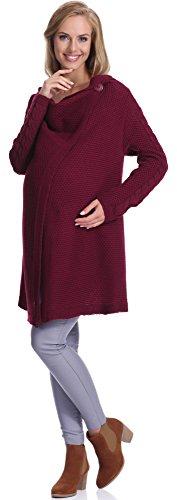 Be mammy cardigan premaman d391 (rosso vinaccia, s/m)