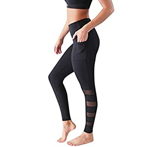 YCQUE Damen Lange Hosen, Damen Lässig Festes Tägliches Training Out Pocket Slim Fit Leggings mit hoher Taille Fitness…