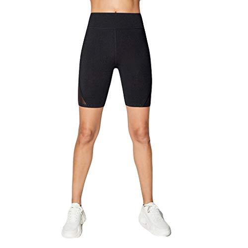Damen Mesh Fitness Shorts, LeeMon Sport Shorts Fitness Shorts Mesh Gym Yoga Shorts Laufshorts Fitness Trainingsshorts (Gym Stricken Short)