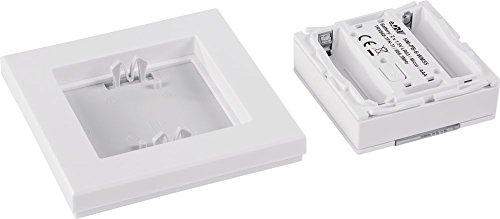 HomeMatic 130113 Funk-Wandtaster 6-fach, mit Rahmen und Wippe, warmweiß - 7