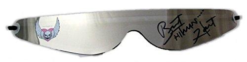 Unbekannt Sonnenbrille Autogramm Bret Hitman Hart Silber