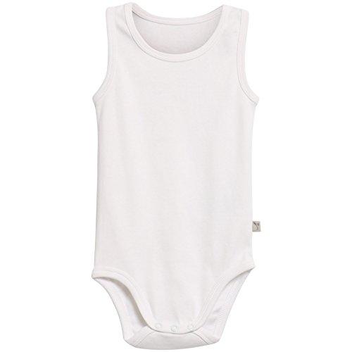 Wheat Baby-Jungen Body Ärmellos Bio-Baumwolle Weiß (White 0364), 80 (Herstellergröße:12m)
