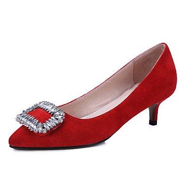 Talons pour femmes Printemps Été Automne Autre Toile Bureau et carrière Robe de soirée et soirée Robe de soirée courte Stiletto Noir Rose Rouge Autre Red