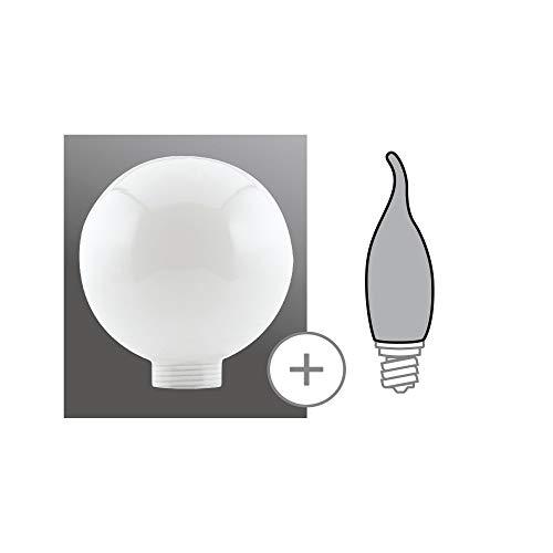 Paulmann 875.77 Globe Ø80mm Minihalogen Glas Opal 87577 Leuchtmittel