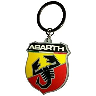 Abarth 21754 Soft Touch Shield Key Ring