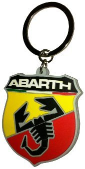 Abarth 21754 Suave al tacto, escudo Key Ring.