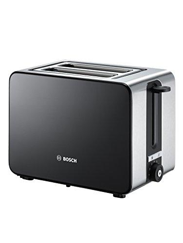 Bosch TAT7203 Grille-Pain Compact, Acier Inoxydable/Noir, 000