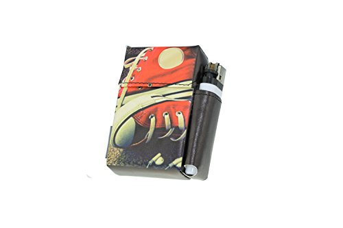 Zigarettenetui Ciggyjumper in div. Sneaker Designs mit Feuerzeughalter (20 Zigaretten), Überzug, Zigarettenhülle für Zigarettenschachtel in Standardgröße, Zigarettenbox