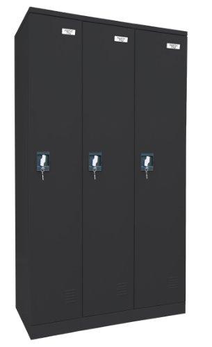 edsal Sandusky kdcl7236/3–09Pulverbeschichtung Paint Steel Snapit Full Länge Locker, 1829mm Höhe x 914mm Breite x 457mm Tiefe, 3Einlegeböden, schwarz