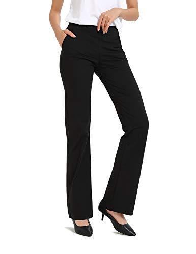 Safort Regular/Tall Bootcut Yoga Hose mit 71cm/76cm/81cm/86cm Schrittlänge, 4 Hosentaschen,Lange Bootleg-Hose, Flare-Hose -