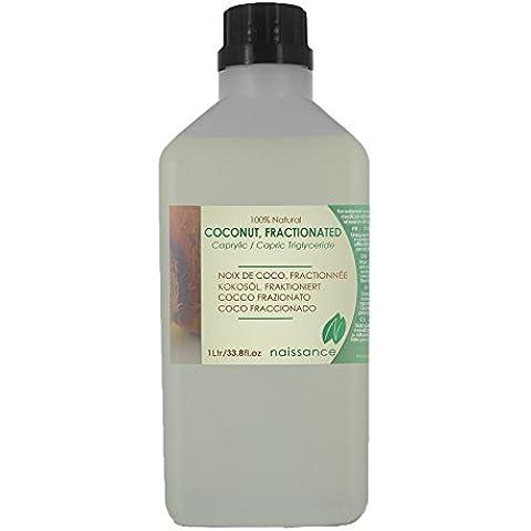 Coco Fraccionado - Aceite Portador Prensado en Frío 100% Puro - 1 Litro