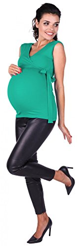 Zeta Ville Maternité - Top de grossesse - Tee-shirt d'allaitement - femme - 094c Sarcelle