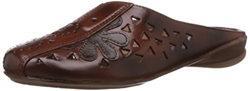Catwalk Women's Brown Leather Slippers - 6 UK